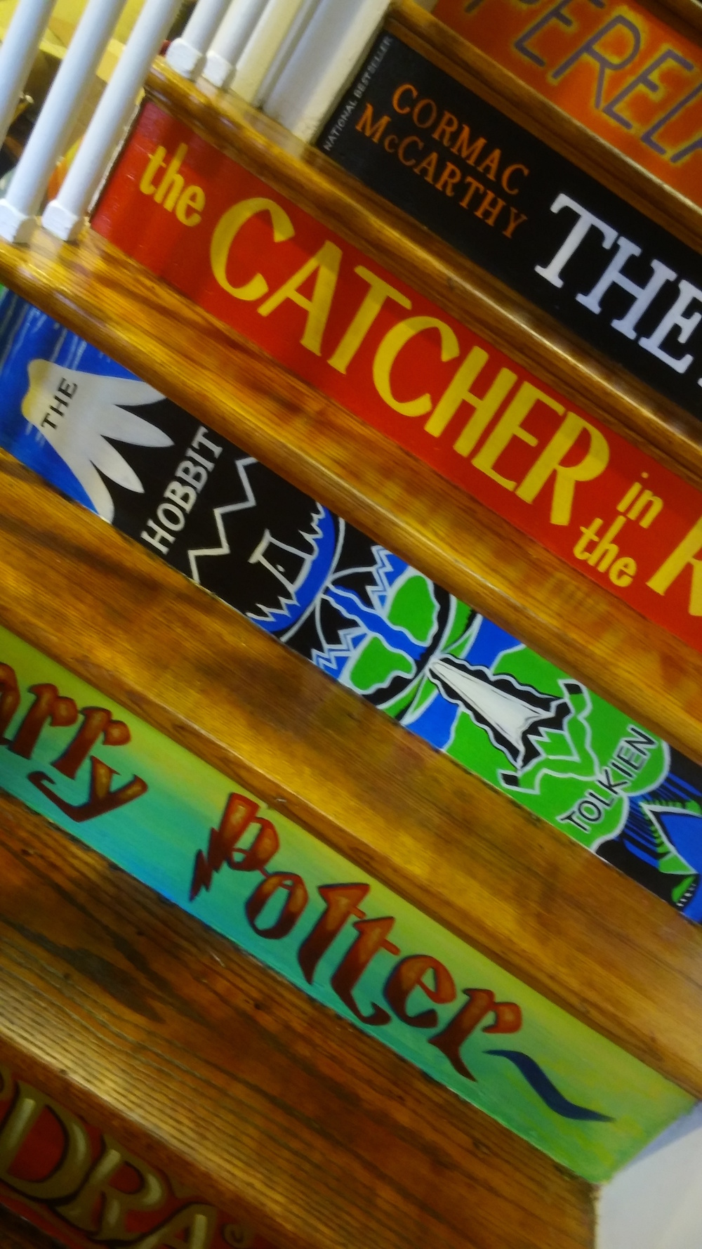 Detail of a StairBookCase Mural