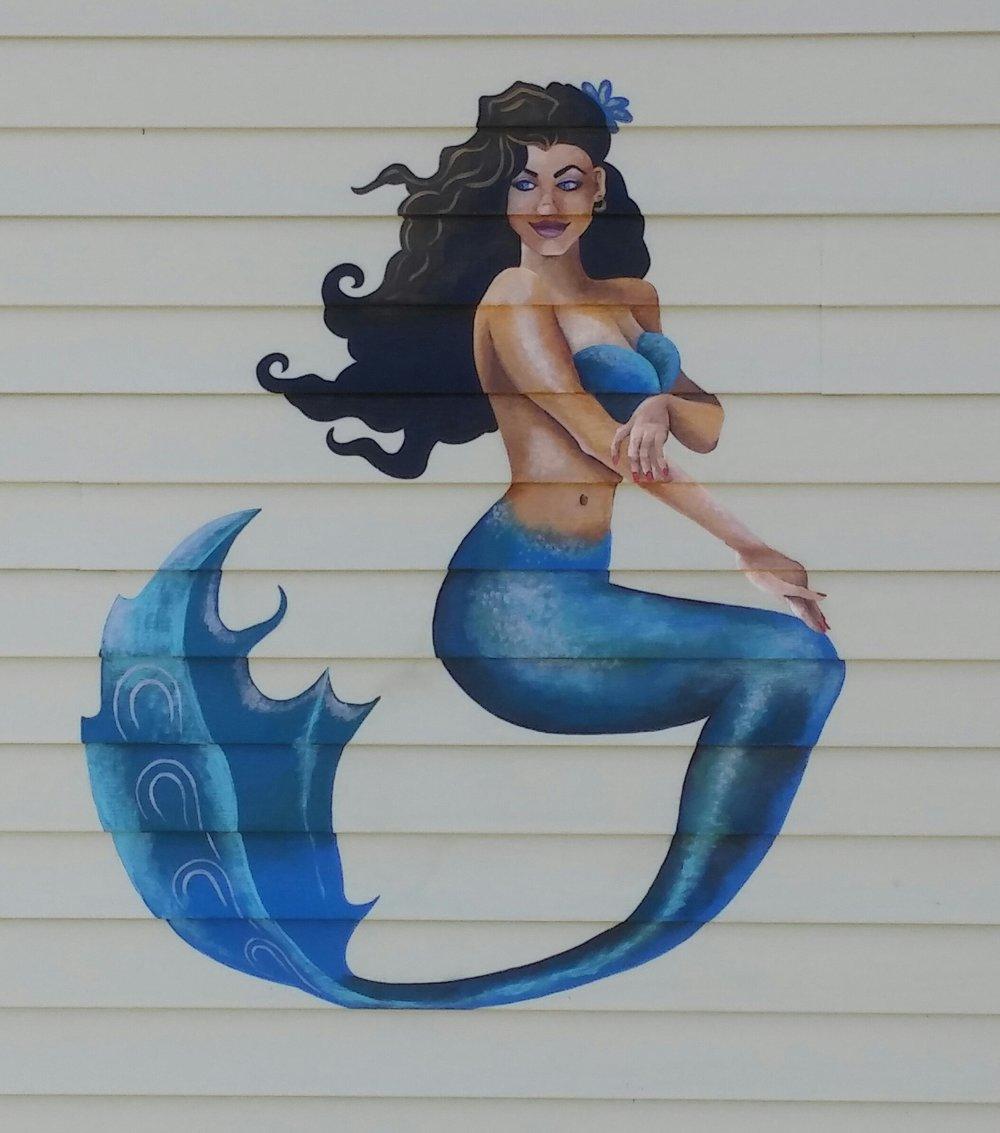 Mermaid Mural in Sundowner Park/133rd St.