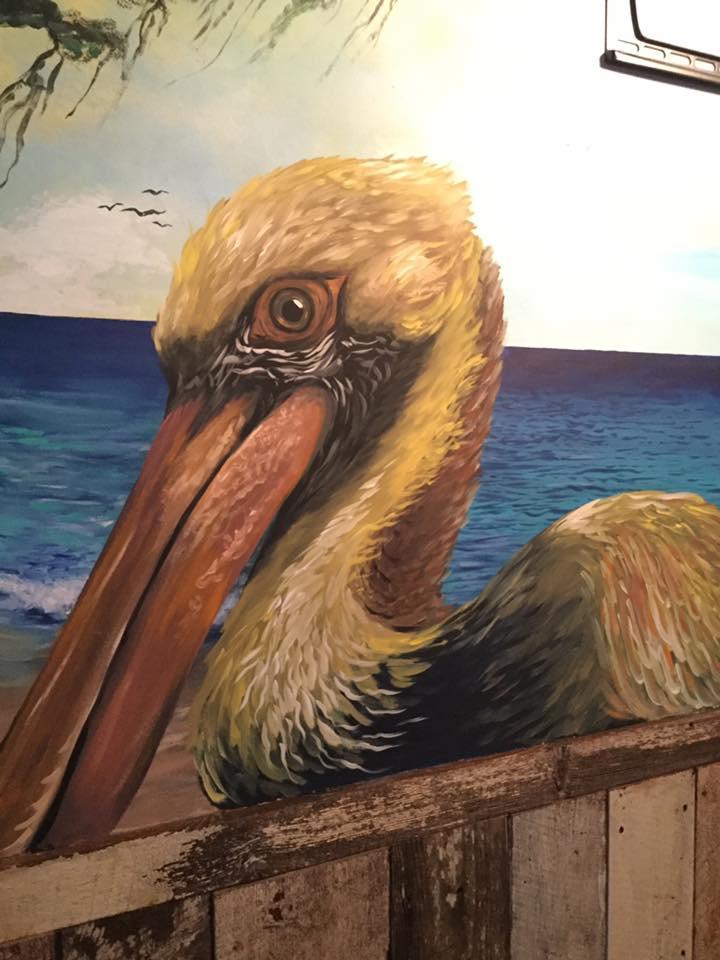 Detail of upstairs mural at Ropewalk Fenwick's newest Big Eyed Jack's