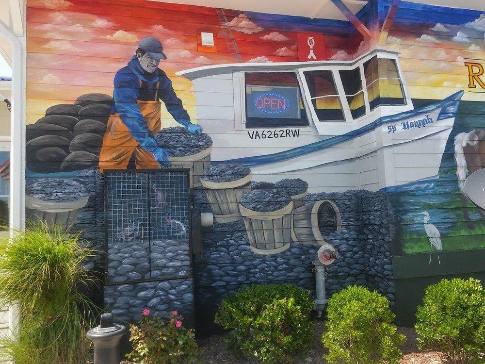 Detail of Exterior Mural at Ropewalk Chincoteague