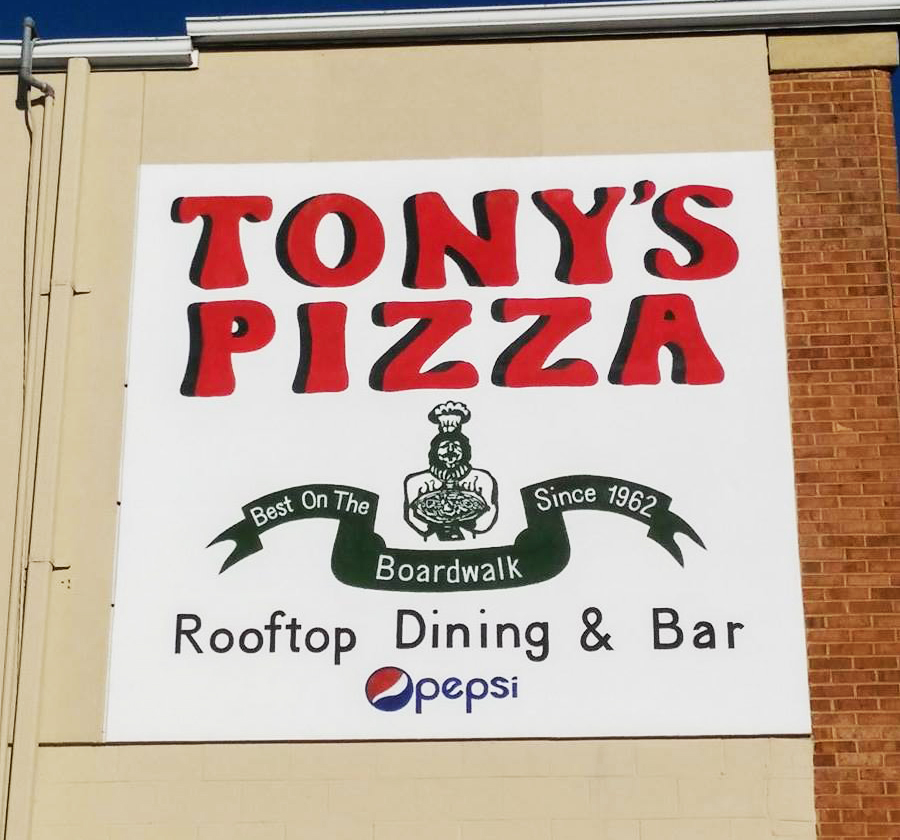 Tony's Pizza Mural Sign