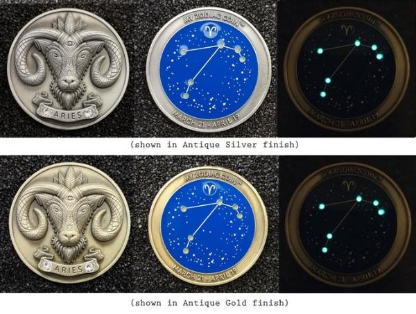 image via  zodiac coin kickstarter