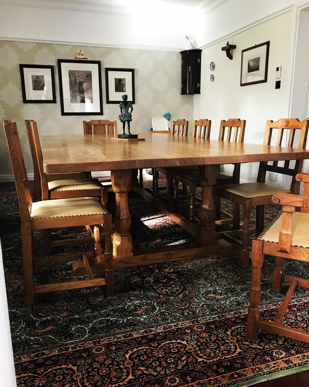 12ft x 6ft dining table