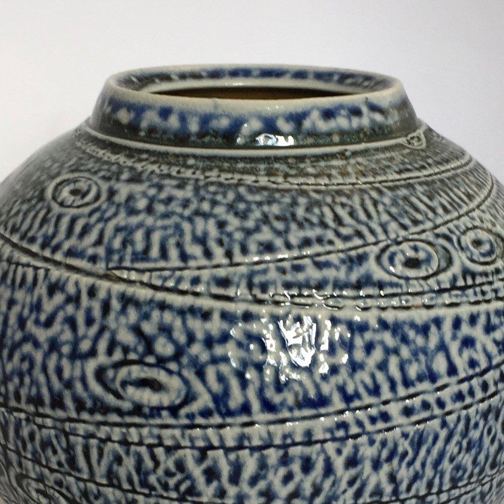 textured moon jar