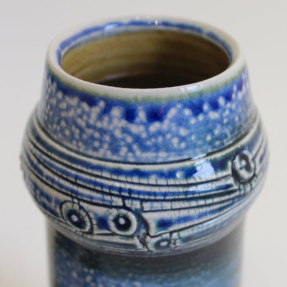 soda fired ringed vase