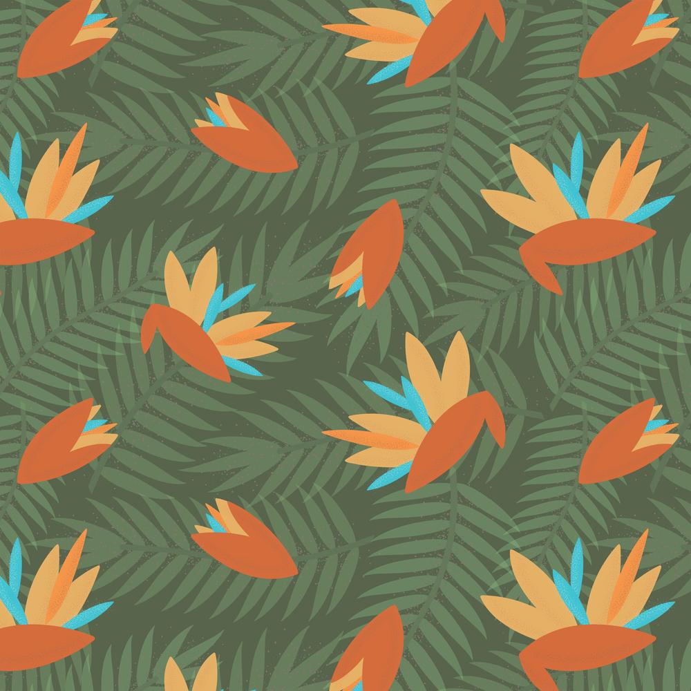 Florida Kitsch- Birds of Paradise Society6 Shirt.jpg