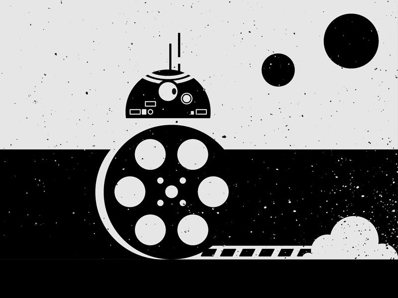 BB8 film reel: Star Wars speeds to record breaking sales.