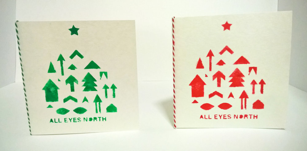 All eyes north christmas cards