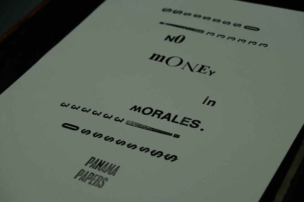 Panama Papers letterpress #3