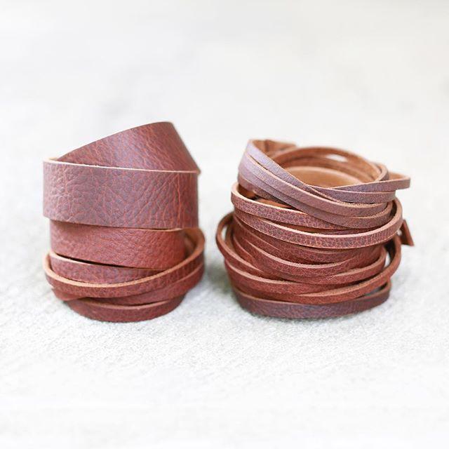Stacks of bracelets ready for @germanvillagemakersmarket this Sunday! . . #germanvillagemakersmarket #germanvillage #columbus #asseenincolumbus #614 #leatherbracelets #ohiomade