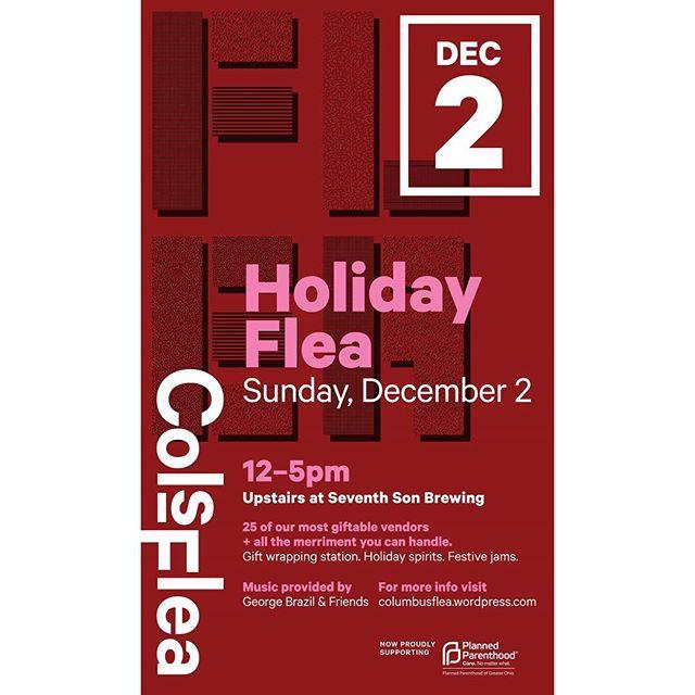 This Sunday! 🎁 . . #holidayflea18 #columbusflea #asseenincolumbus #shop614 #cbus #holidayshopping