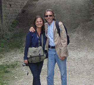 Producers-directors phil sugden and Carole Elchert on location in Havana, Cuba