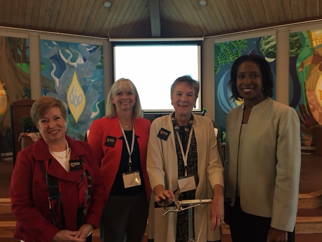 L-R: Consumer Health First Vice-President, Dr. Madeleine Shea, Executive Director, Jeananne Sciabarra, President, Leni Preston, and Dr. Cara James, Director, Office of Minority Health CMS