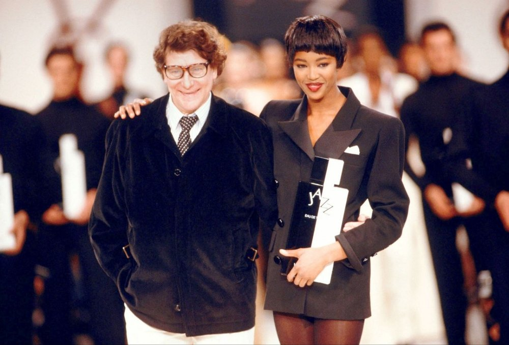 Image Courtesy of The Dapfier. Yves Saint Laurent & Naomi Campbell