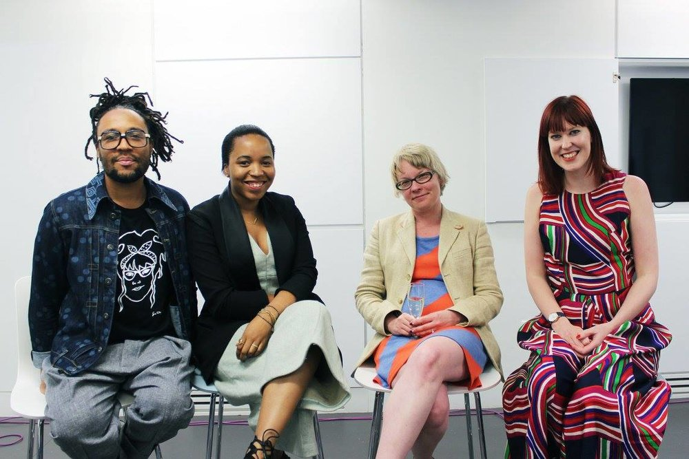 The panelists and Olivia for 'Is the Fashion Industry Racicst?'
