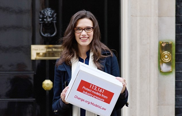 Rosie at 10 Downing Street in 2015