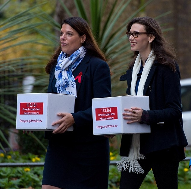Image: Courtesy of The Daily Mail. Rosie Nelson with Caroline Nokes MP