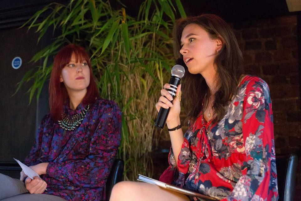 Rosie Nelson sharing her experience with Olivia Pinnock. Image courtesy of Jordan Wharf-Young
