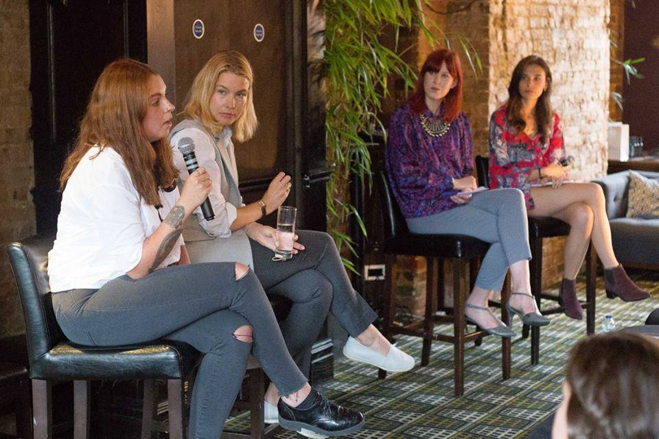 From left-right: Laura Watts, Amy Williams, Olivia Pinnock and Rosie Nelson. Image courtesy of Jordan Wharf-Young