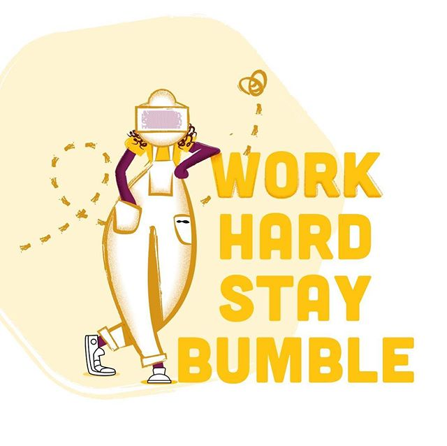 """Work hard, stay bumble"" - never has there been truer words for a beekeeper! 🐝Thanks for the gorgeous design @danjayhaigh"