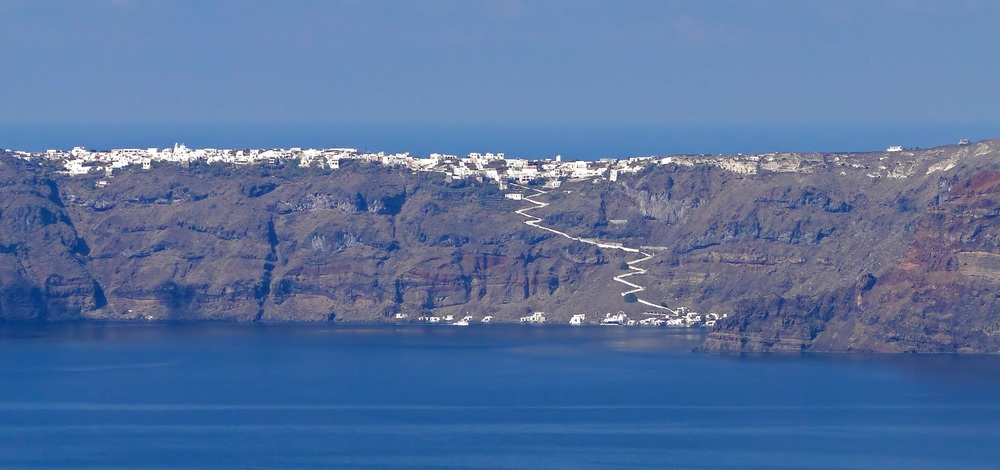 Therasia Therasia, also known as Thirasía, is an island in the volcanic island group of Santorini in the Greek Cyclades.
