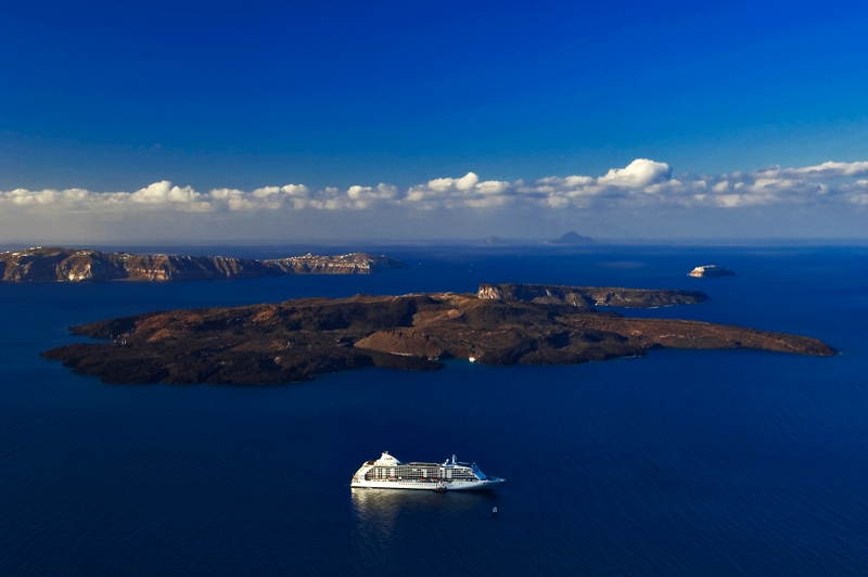 The Volcano Of Santorini. The volcano of Santoriniis one of the most significant volcanoes in the world history.