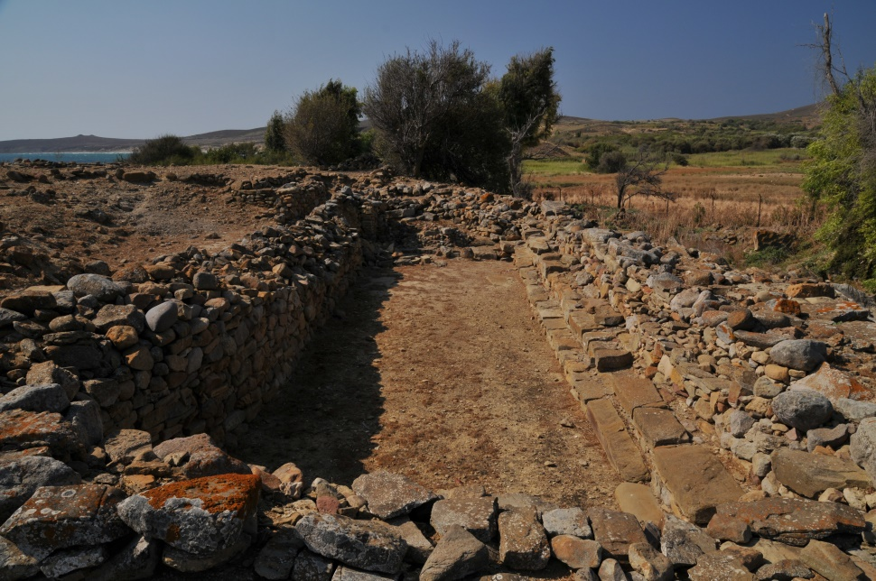 "Welcome to Poliochni, contemporary with Troy, one of the most remarkable pre-historic settlements in the island that developed to become an organized urban center with the first ""chamber of deputies"" in the world,  ancient evidence of Democracy."