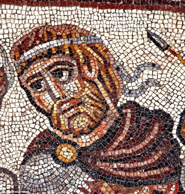 Stunning mosaics that may depict Alexander the Great (pictured) meeting a Jewish priest have been unearthed in Israel. The artwork was uncovered in the east aisle of a fifth-century synagogue in the ancient Jewish village of Huqoq.