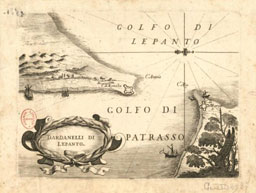 Map of the Gulf of Lepanto byVincenzo Coronelli