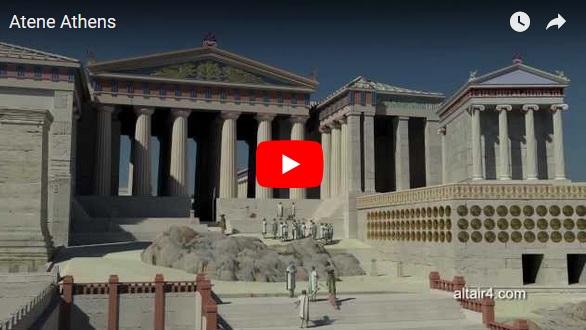 Ancient Acropolis 3D presentation Greece High Definition