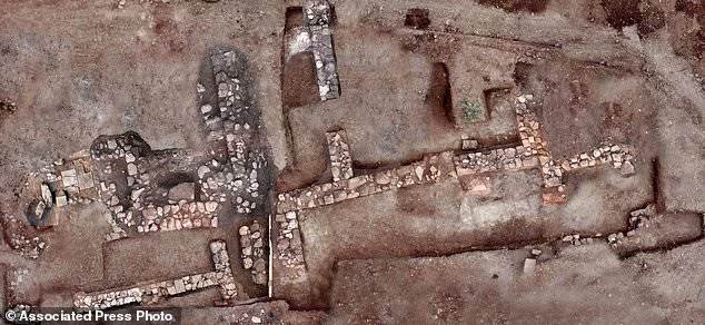 Remains of walls and floors, probably from houses, from the lost ancient city of Tenea. The ministry said Tuesday archaeologists have located the first tangible remains of the city that, according to tradition, was first settled by Trojan war captives after the Greek sack of Troy.