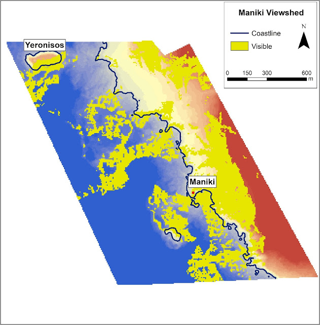Contour and bathymetric map of Maniki Harbour, Geronisos [Credit: Department of Antiquities, Cyprus]