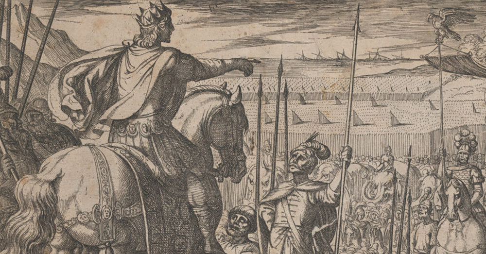 social media crop of Alexander Instructing his Soliders, from The Deeds of Alexander the Great (Antonio Tempesta 1555–1630 Rome), [Public Domain] via Creative Commons.jpg