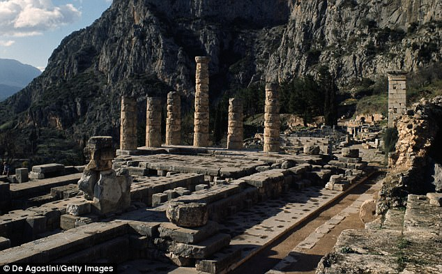 Ancient Greek city Delphi was home to the Temple of Apollo(pictured), an important sanctuary that was built over the same earthquake fault line twice