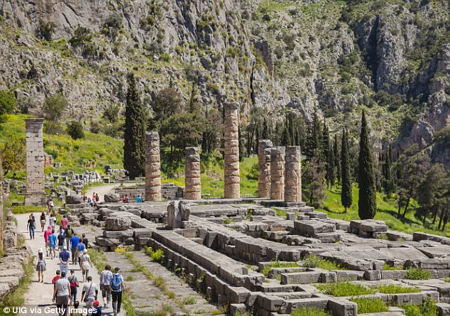 The Temple of Apollo (pictured) is believed to have gained important status in Classical Greek civilisation due to its sacred springs and the intoxicating fumes that rose from the fault lines it was built on