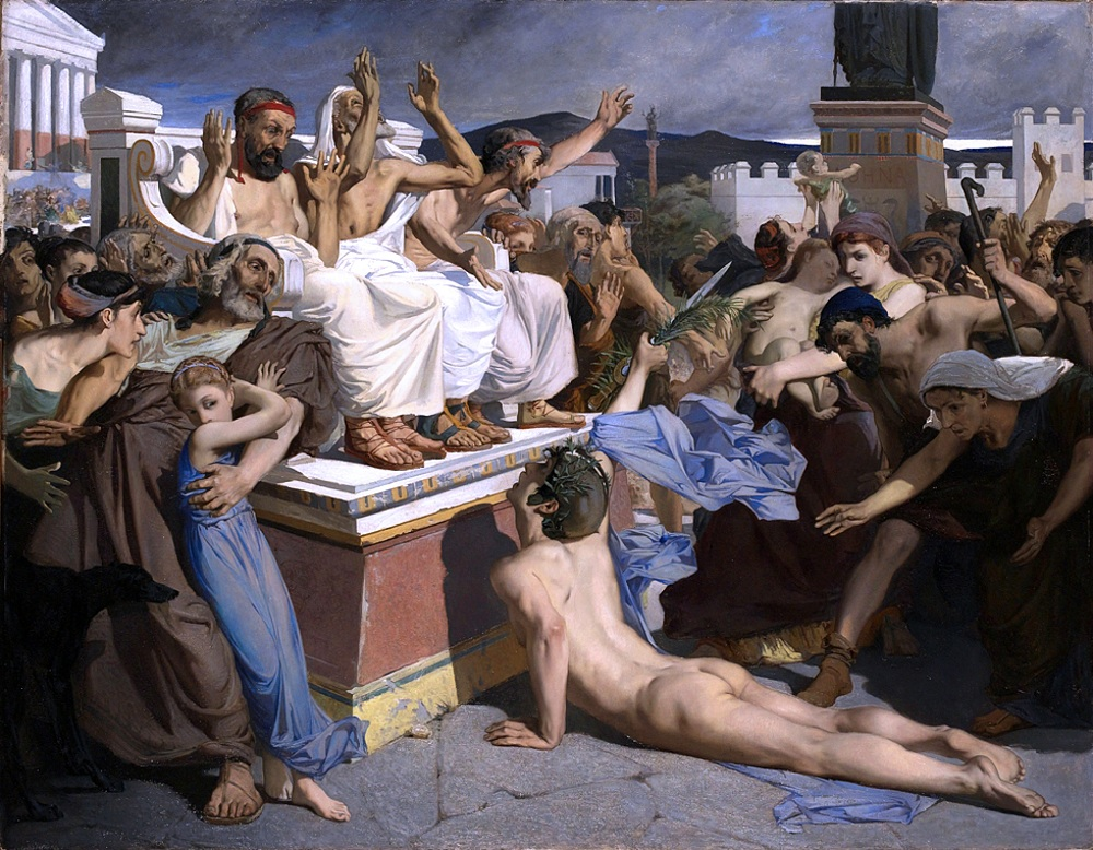 Pheidippides giving word of victory at the Battle of Marathon Luc-Olivier Merson