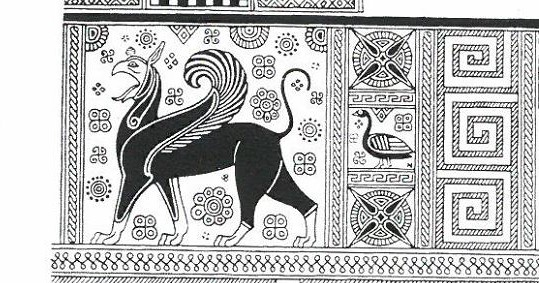 Fig.7: Samian Wild Goat Krater Panel. Sourcer: John Boardman 1998