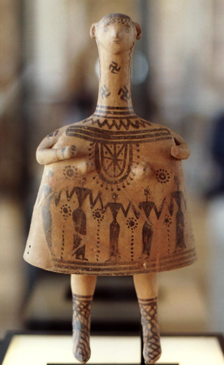 Fig.20: Late Geometric Boetian Bell-Idol. Author: Unknown