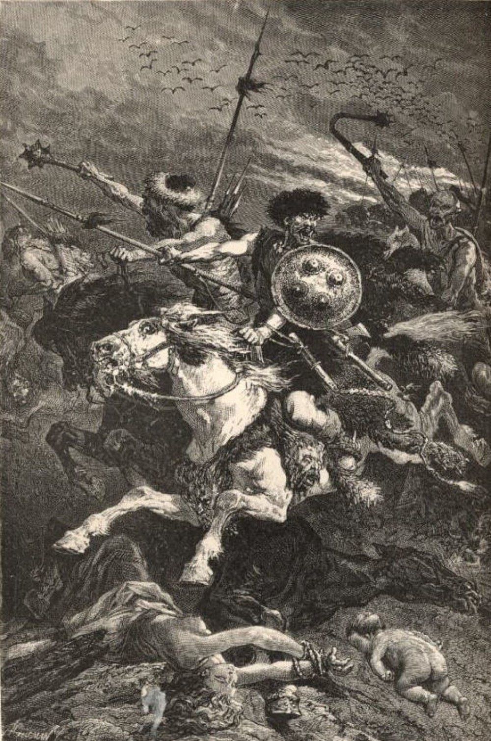 ( 19th-century portrayal of the Huns as barbarians )