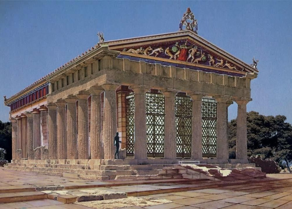 A reconstruction of the temple of Aphaia