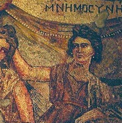 Mnemosyne | Greco-Roman mosaic from Antioch C2nd A.D. | Hatay Archeology Museum, Turkey