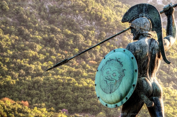 The statue monument of Leonidas at Thermopylae - © Giovanni Carrieri