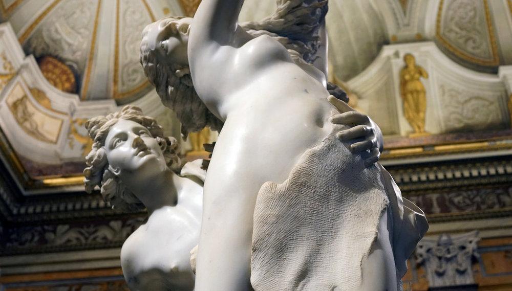 Gian Lorenzo Bernini, Apollo and Daphne, 1622-25, Carrera marble, 243 cm high (Galleria Borghese, Rome)  BY   Steven Zucker