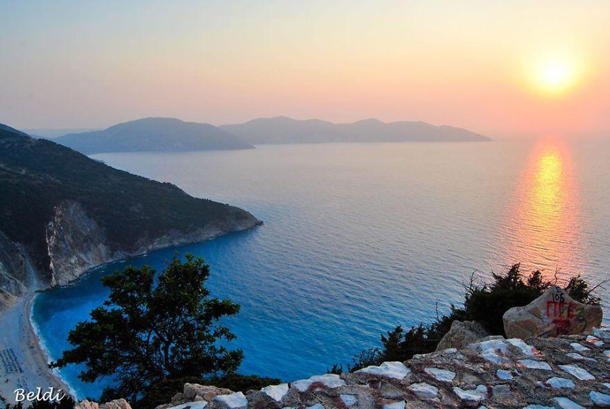 Sunset on Myrtos
