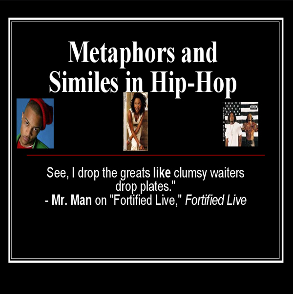 Use this engaging presentation. Students will recognize how their favorite artist use figurative language in their lyrics.