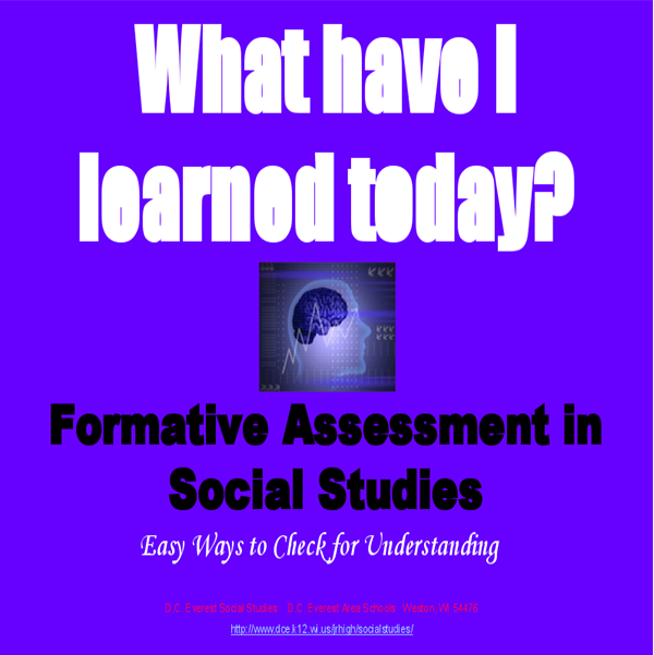 Formative Assessment   Adjust teaching and learning as it happens by using these strategies. Use creative ways to formatively assess student understanding.