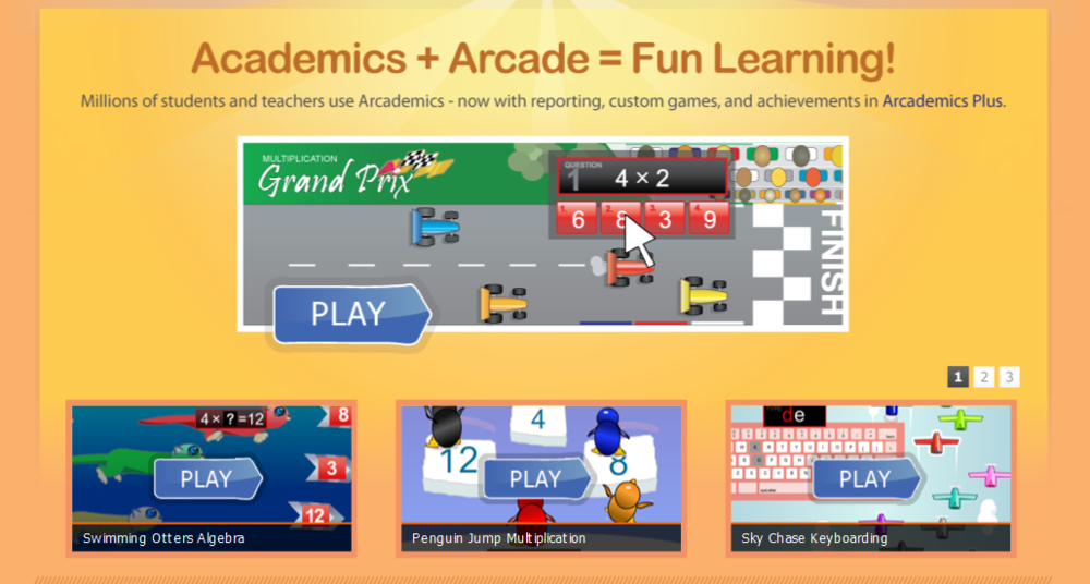 Arcademic Skill Builders Boost student engagement and fact fluency with our free multiplayer educational games, math games, language gams, and more!