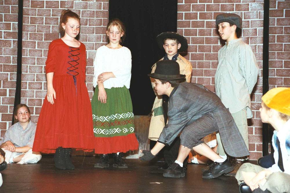 OLIVER TWIST (Musical) - Gananda Community Youth TheatreGCYT Main Stage  Gananda, NY USA4-5 Grade American StudentsJuly, 2003