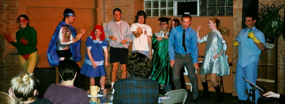 the OXYMORONS Comedy Troupe - Nazareth College & On Tour   Rochester, NY USAAdult Actors                       April 2002 - July 2002