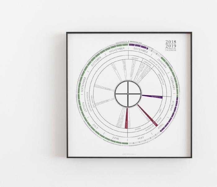 18x18 poster 2019 modern liturgical calendar